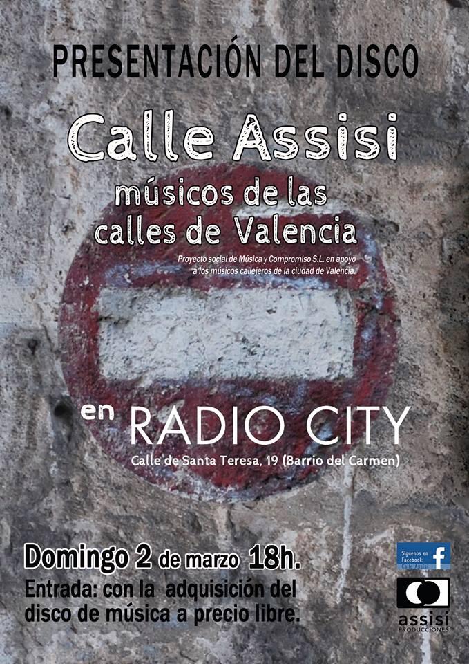 Calle assisi, proyectos, musicos callejeros, Valencia, Barrio del Carmen